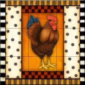 Fancy Rooster 6   - Tile Mural
