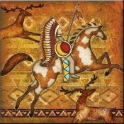 DM-Southwest Horse 1 - Accent Tile