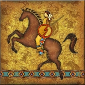 DM-Southwest Horse 2 - Accent Tile