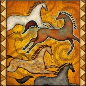 DM-Southwest Horse 6  - Accent Tile