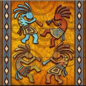 4 Kokopellies   - Tile Mural