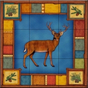 Wilderness Elk   - Tile Mural