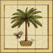 Coconut Palm 1   - Tile Mural