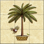 Coconut Palm 4   - Tile Mural