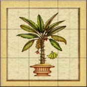 Banana Palm 1   - Tile Mural