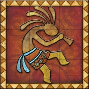 Kokopelli A Right   - Tile Mural