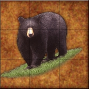 Lodge Black Bear 2   - Tile Mural