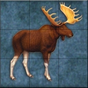 Lodge Moose 2   - Tile Mural