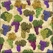 DM-Wine Grapes Collage - Accent Tile