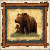 DM-Lodge Grizzly Bear Family - Accent Tile