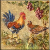 Rooster Duo - Accent Tile