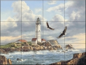 Boston Lighthouse  - Tile Mural