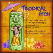 Drink Recipe - Tropical Itch - Tile Mural