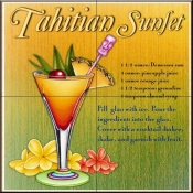 Drink Recipe - Tahitian Sunset  - Tile Mural
