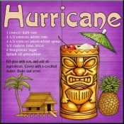 Drink Recipe - Hurricane - Tile Mural