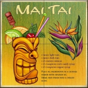 Drink Recipe - Mai Tai - Tile Mural
