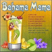 Drink Recipe - Bahama Mama - Tile Mural