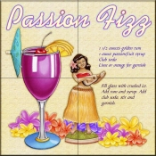 Drink Recipe - Passion Fizz - Tile Mural