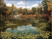 SH - Autumn Pond  - Tile Mural