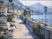 HB - Bellagio Promenade  - Tile Mural