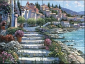 HB - Steps of St. Tropez  - Tile Mural