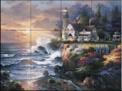 JL -  Twilight Beacon  - Tile Mural