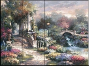 JL - Classic Garden Retreat  - Tile Mural