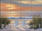 DR - Paradise Sunset  - Tile Mural
