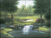 SB - Waterfall at Par 3  - Tile Mural