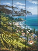 SK - Vineyard Village I - Tile Mural