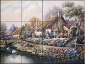 CV-Village of Selworthy  - Tile Mural