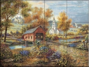 CV-Razzberry Creek  - Tile Mural