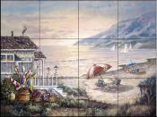 CV - Sea Side Rays  - Tile Mural