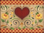 AA - Hearts & Flowers H  - Tile Mural