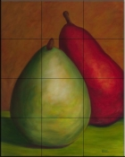 Two Pears   - Tile Mural