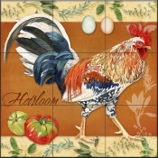 LW - Rooster Heirloom  - Tile Mural