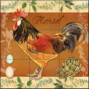 LW - Rooster Natural  - Tile Mural