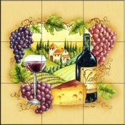 SW-Wine Country  - Tile Mural