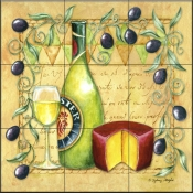 SW-Olives Roma Chardoney  - Tile Mural