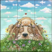 GP - Lazy Day AFternoon - Dog - Tile Mural