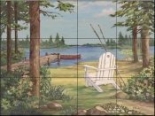 PB - Lakeside I  - Tile Mural