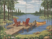 PB - Lakeside II  - Tile Mural