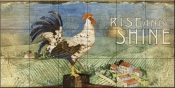 PB - Rooster Signs I  - Tile Mural