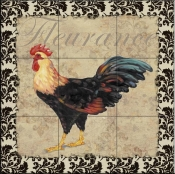 PB - Bergerac Rooster XII  - Tile Mural