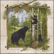 AP - Bear Family  - Tile Mural