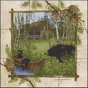 AP - Log Cabin  - Tile Mural
