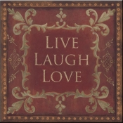 JM- Live Laugh Love - Accent Tile