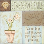 JM- Love Never Fails - Accent Tile