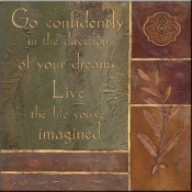 JM- Go Confidently - Accent Tile