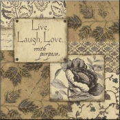 JM- Live Laugh Love with Purpose - Accent Tile